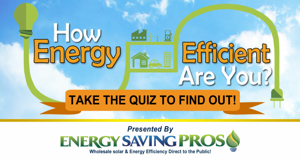 How Energy Efficient Are You? Take the quiz!